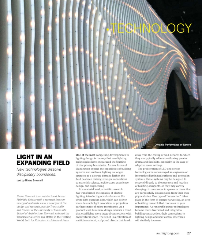 Architectural Lighting November/December 2012